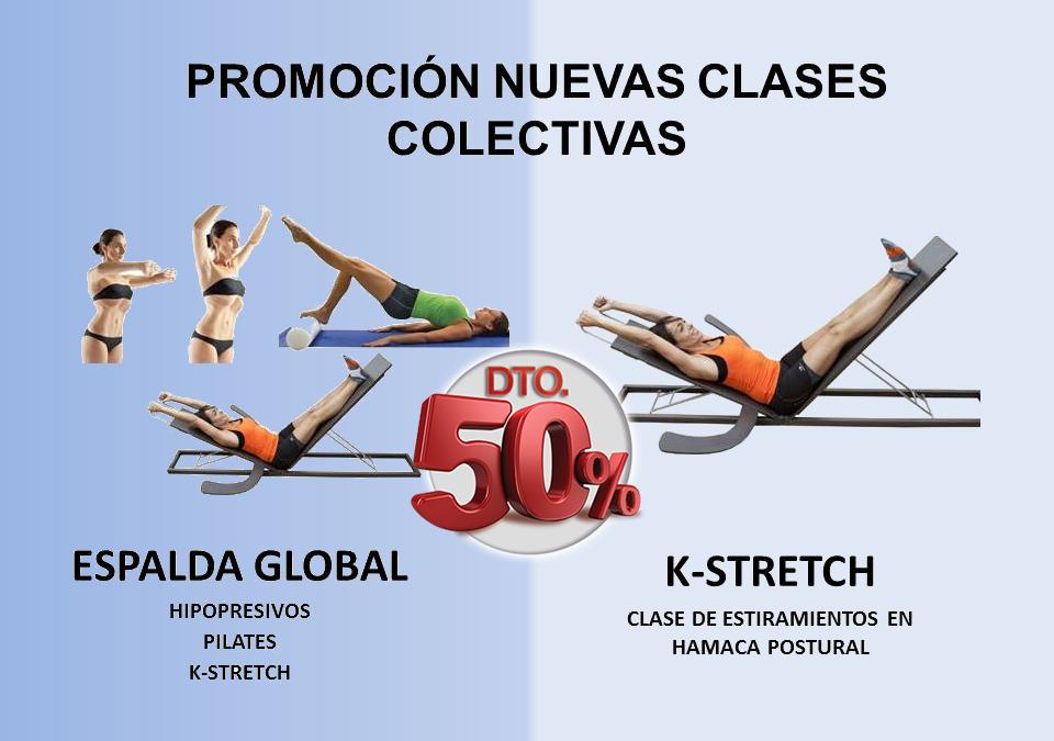 ESPALDA GLOBAL Y K-STRETCH, NUEVAS CLASES COLECTIVAS